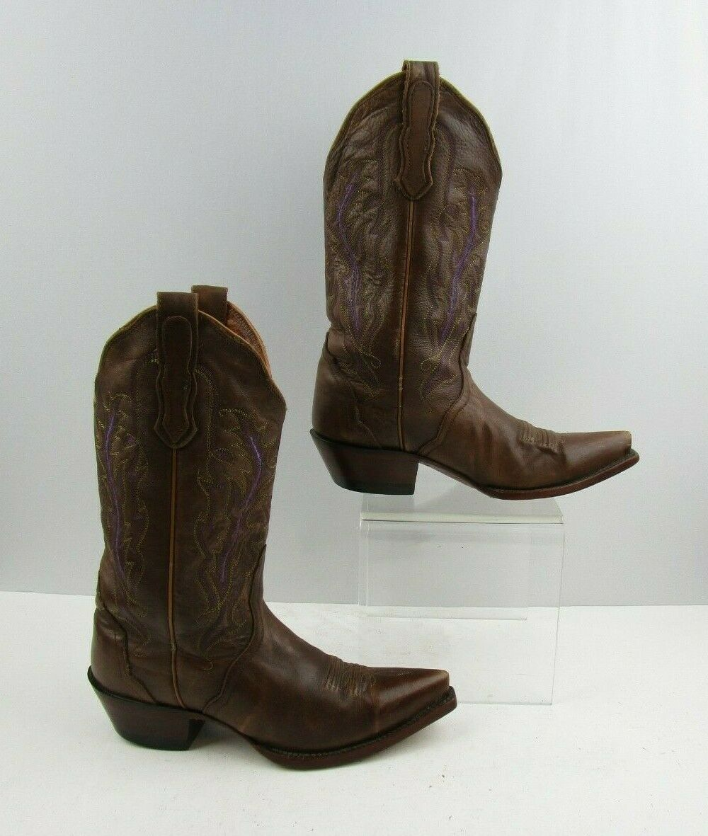 Mesdames NOCONA cuir Western Cowgirl bottes Taille  6.5 B
