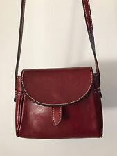 Genuine Italian Red Leather Shoulder Handbag Purse