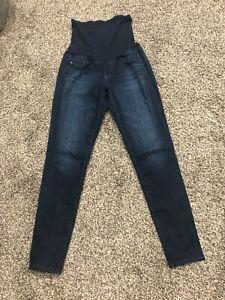 AG-Adriano-Goldschmied-Denim-Maternity-Jeans-Sz-28x29-Dark-Wash-Skinny-Legging