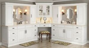 Details about Antique White Kitchen Cabinets-Sample-RTA-All wood, in stock,  ready to ship