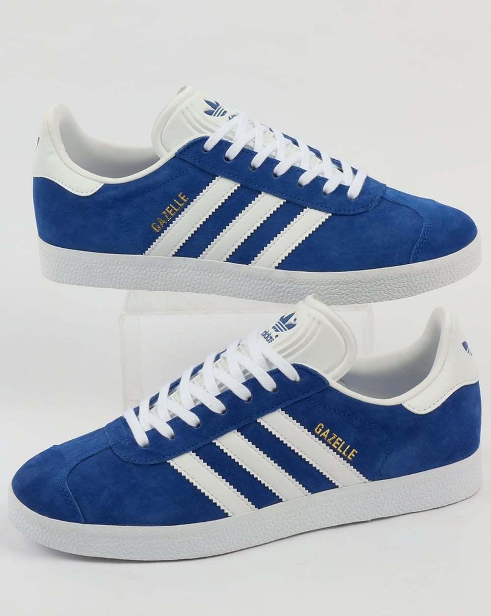 Adidas gazzella formatori in blu reale & & & bianca - classico retro 'scamosciato 3 righe | Nuovi prodotti nel 2019  | Gentiluomo/Signora Scarpa  46c6be
