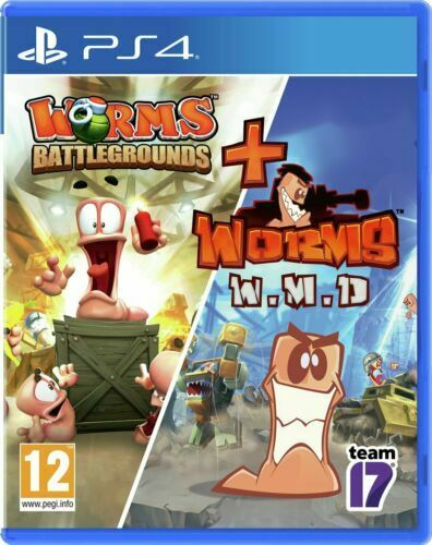 Worms Battlegrounds and WMD Double Pack PS4 Playstation 4 **BRAND NEW & SEALED**