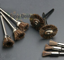 60pcs Horse Hair Brush Bowl Polishing Wheel for Dental Rotary Tools 2.35mm