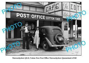 OLD-LARGE-PHOTO-MAROOCHYDORE-QUEENSLAND-COTTON-TREE-POST-OFFICE-c1940
