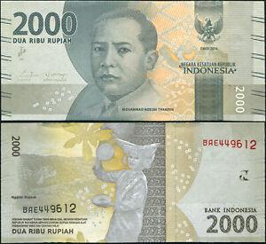 Indonésie 2000 Rupiah. NEUF 2016 Billet de banque Cat# P.155a