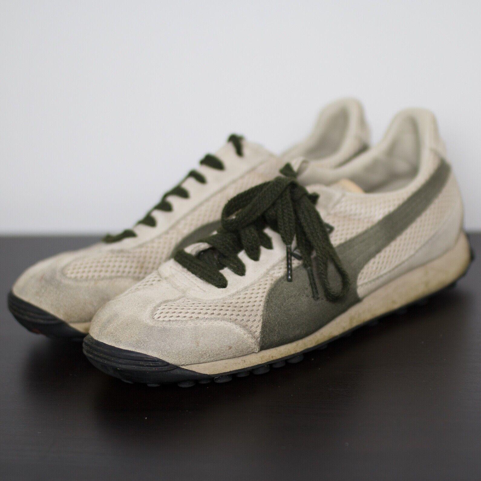 Vintage Puma Tennis shoes Sneakers Waffle Cream Womens 7.5 Rare VTG