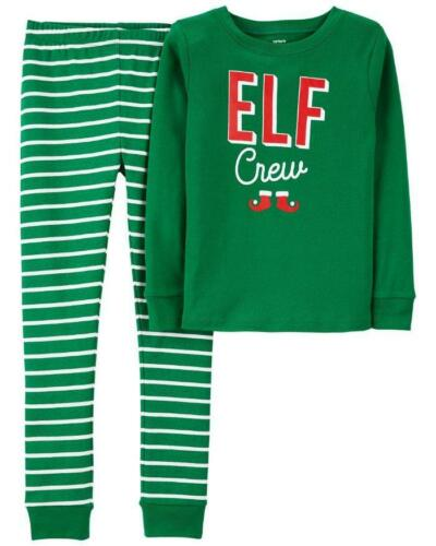 Pajama Set NWT CARTER/'S Little Boys 5 Christmas Elf Crew Snug Fit 2-Pc