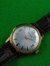 "Man's Wrist Watch  USSR LUXURY ""RAKETA""  Case GOLD PLATED"