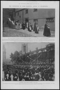 1902-Antique-Print-LONDON-Coronation-Westminster-Clergy-Regalia-Indian-66