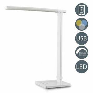 2 in 1 LED Tischlampe Schreibtisch-Leuchte Büro dimmbar LeseLampe Nachttisch 6W