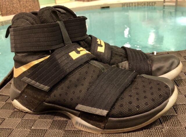 new york 15e42 2ffa4 Nike Lebron SOLDIER 10 ID CHAMPIONSHIP LIMITED EDITION SIZE 10.5 885682  Black Go