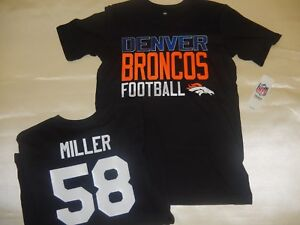 buy online e733a 7c3c2 Details about 8612 YOUTH Kids Boys Denver Broncos VON MILLER Football  JERSEY BLACK New