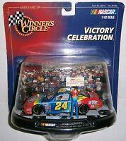 Hasbro Winner's Circle - Jeff Gordon - NASCAR - Victory Celebration (Million Dollar Win) - 143 Scale #24 Replica Car w/Stand and Miniature Figure - 56182