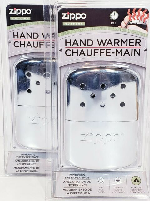 Zippo Hand Warmers Lot Of 2 Filler Cups & Warming Bags Refillable