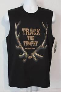 fe7010859a87c7 NEW Mens Tank Top Mossy Oak Muscle T Shirt Large Deer Hunting Camo ...
