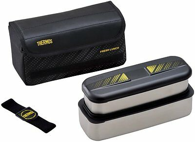 NEW Thermos Stainless Lunch Box BENTO 1100ml DSD-1101WBK Black Japan Import