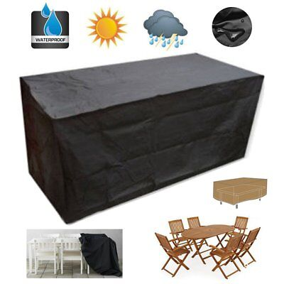 125X125X74CM Square Waterproof Garden Patio Cube Cover Table Chair Set Protecors