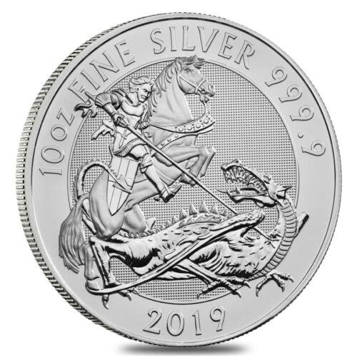 2019 Great Britain 10 oz Silver Valiant Coin In Cap .9999 Fine BU