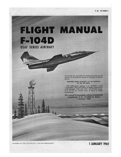 LOCKHEED F-104 Starfighter Pilot/'s FLIGHT OPERATING INSTRUCTIONS