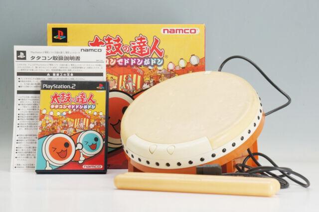 Namco PS2 Taiko no Tatsujin Tatakon de Dodon ga Don Bundle VG w/box 422e24
