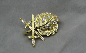 WW2 German Gold Oak Leaf with Swords and Diamonds to the ...