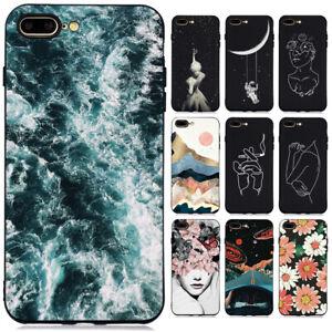 Pour-iPhone-6-7-8-XR-XS-Max-Slim-Soft-Silicone-Antichoc-peint-TPU