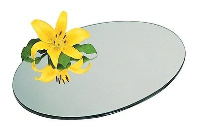 WEDDING TABLE CENTREPIECE, ROUND, MIRROR PLATE, GLASS PLATE, BEVELLED EDGE
