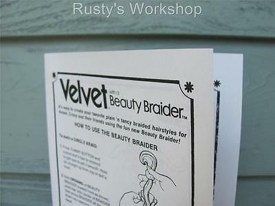 Reproduction Ideal Beautiful CRISSY/'S Beauty Parlor INSTRUCTIONS