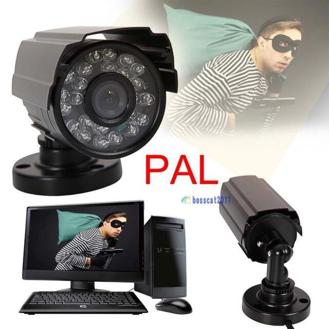 PAL 1300TVL Waterproof Outdoor CCTV Security Camera IR Night Vision 6mm Lens JS