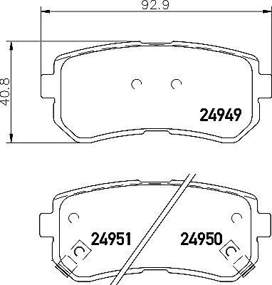 REAL IMAGE OF THE PARTS BRAND NEW MINTEX FRONT BRAKE PADS SET MDB3216