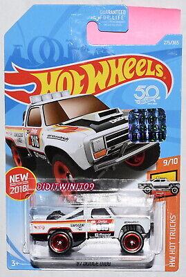 Hell Hot Wheels 2018 Hw Hot Lkws '87 Dodge D100 # 9/10 White Werkseitig Versiegelt Autos, Lkw & Busse Auto- & Verkehrsmodelle
