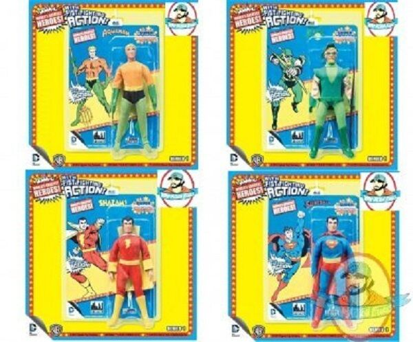 DC Retro 8  Super Powers Powers Powers Series 1 Set of 4 Figures Toy Company 553abd