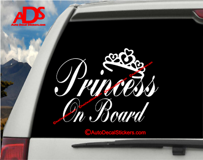 Amazon Com Hungmieh Princess On Board Sticker For Car Window Windshield And Body Die Cut Vinyl Kids Safety Stickers And Signs Baby Girl On Board Decal Pink 7 X5 7 Automotive