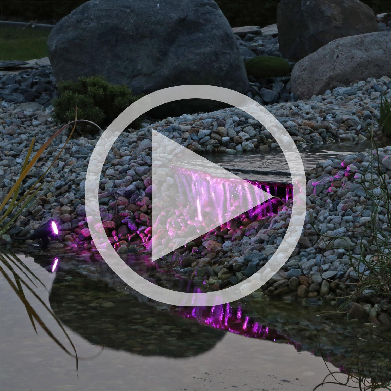Set 3 estanque iluminación bajo el agua LED RGB multiColor bajo el agua luces multiColor
