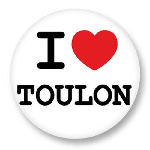 Magnet Aimant Frigo Ø38mm ♥ I Love You j/'aime Toulon Var PACA 83