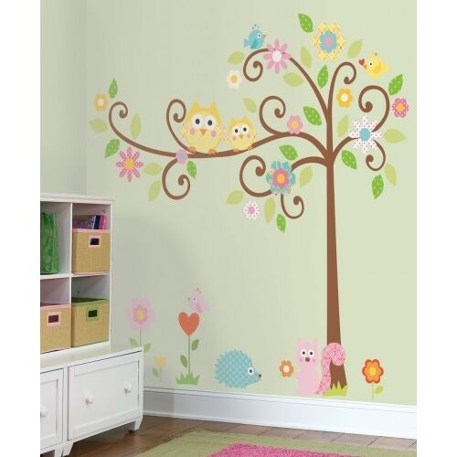 roommates scroll tree mega pack removable wall stickers peel and