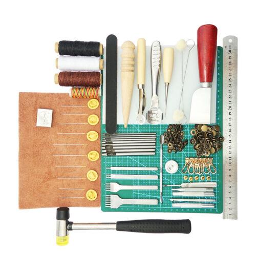 Nähte Groover 1 Set Leder Handwerk Stanzwerkzeuge mit Matting Cut Prong