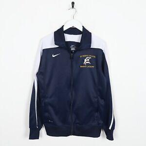 Vintage-Nike-Pequeno-Logo-Chaqueta-de-Chandal-Azul-Marino-Grande-De-L