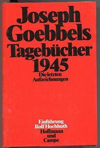 Joseph Goebbels - Tagebücher 1945 - Kornwestheim, Deutschland - Joseph Goebbels - Tagebücher 1945 - Kornwestheim, Deutschland