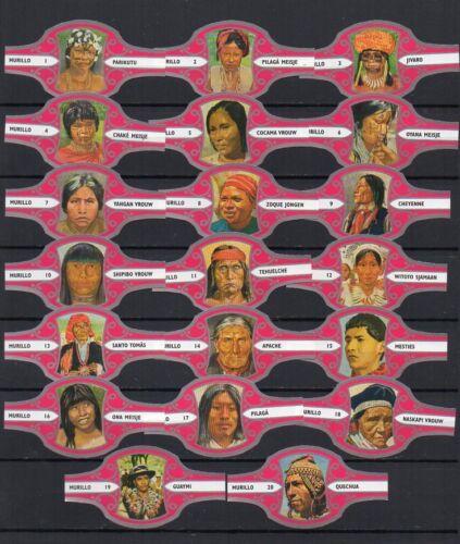 """Bauchbinden Vitolas. Murillo /""""Indianen/"""" 20 cigar bands"""