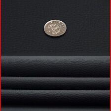Grano Aspecto Cuero Negro Tela Material de tapicería de vinilo Coche Furgoneta Camión D222/7