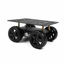 4wd Robot Kit With Aluminum Alloy Frame Tt Motor And Rubber Wheel Chassis Car
