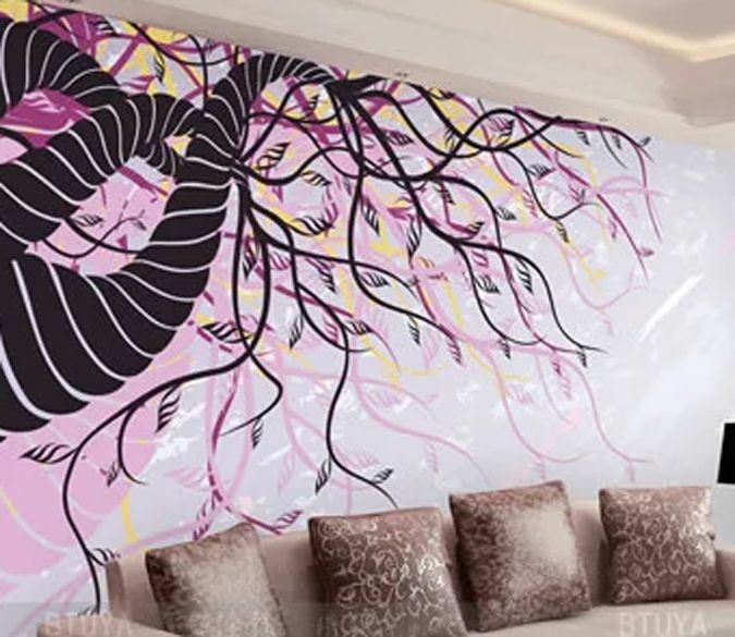 3D Modern lila vines 0179 Wall Paper Wall Print Decal Wall Deco AJ WALLPAPER