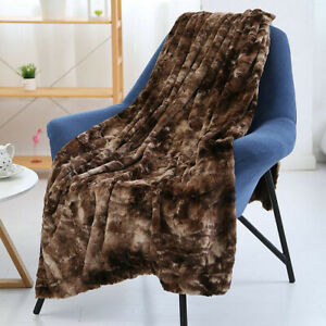 Luxury Soft Faux Fur Blanket Throw Sofa Bed Mink Soft Warm Fleece Blanket