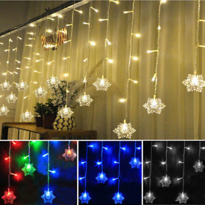indoor christmas lighting. Image Is Loading 3M-Icicle-Snowflakes-Curtain-Window-Fairy-String-Lights- Indoor Christmas Lighting