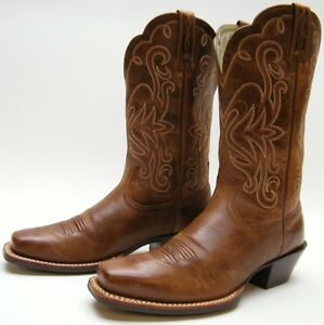 901c803c77b1 Ariat 15845 Legend Square Toe BRN LEATHER Cowboy Western Russet ...
