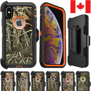 iPhone-X-XS-Max-XR-Camo-Realtree-Forest-Defender-Cover-Hybrid-Case-Belt-Clip