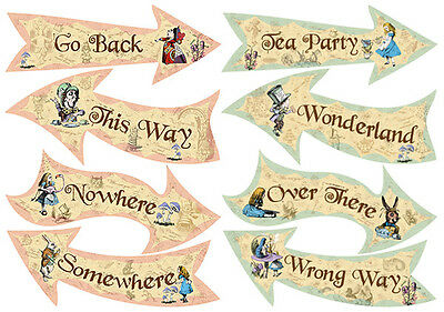 Mad Hatters Tea Party Alice in Wonderland Vintage Style props decorations ALL