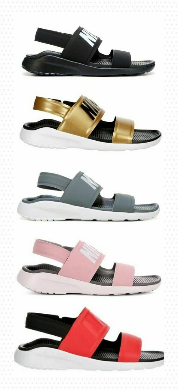 Relación crisantemo canal  Nike Tanjun Womens Comfort Sandals Shoes Black Size 7 for sale online | eBay