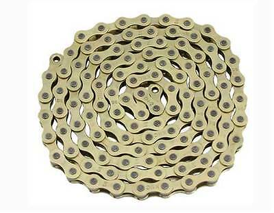 BICYCLE CHAIN GOLD 1//2 X 1//8 X 112 LINK BMX BEACH CRUISER LOWRIDER BIKES CYCLING